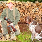 "Bob, Trammell and three ""wood pheasants."" (Pheasants Forever photo)"
