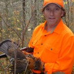 Brendan with the first grouse of the trip.